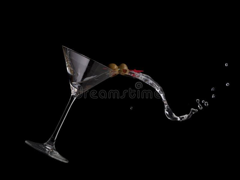 Het Morsen van martini royalty-vrije stock afbeelding