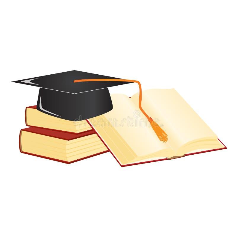 Het mortier van de graduatie stock illustratie