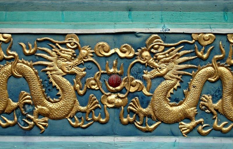 Het Motief van de draak stock foto