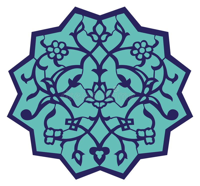 Het Motief van de Ottomane van Iznik royalty-vrije illustratie