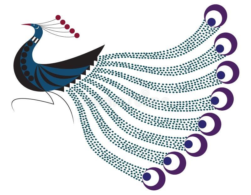 Het Motief van de pauw royalty-vrije illustratie