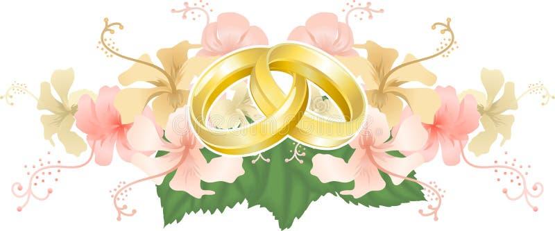 Het motief van het huwelijk vector illustratie