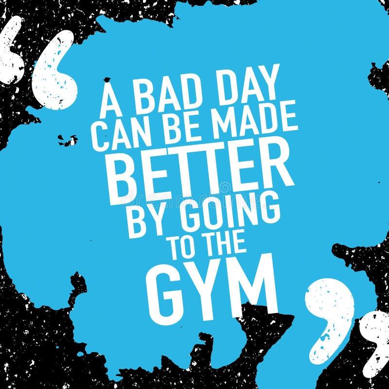 Het motieven de training van de affichegymnastiek bodybuilding royalty-vrije illustratie