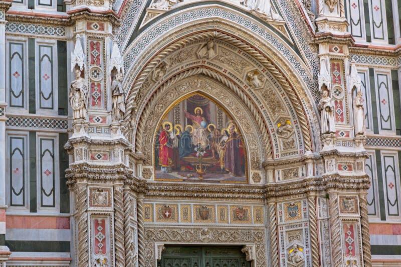 Het mozaïek van de de holdingsbol van Jesus, Christus Pantocrator op portaal van Flor royalty-vrije stock afbeelding