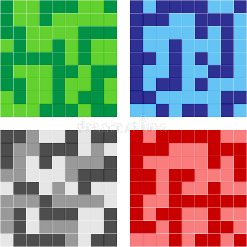 Het mozaïek van de kleur stock illustratie