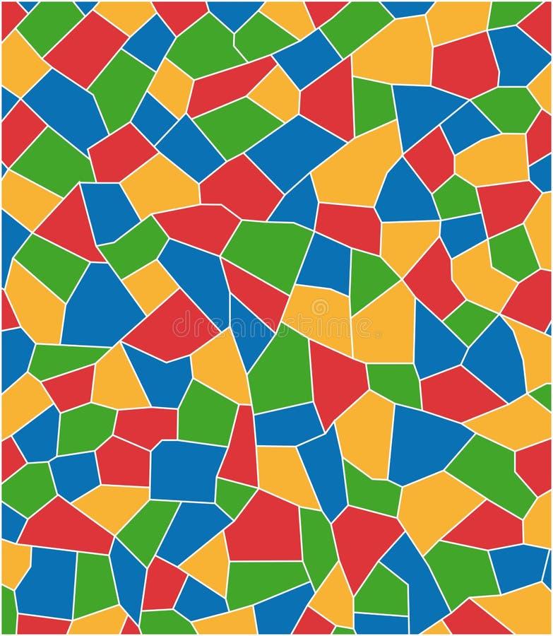 Het mozaïek van de kleur royalty-vrije illustratie