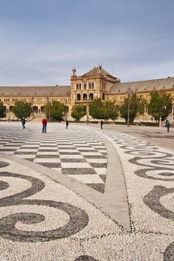 Het mozaïek van España-vierkant, Sevilla, Spanje, Spanje stock fotografie