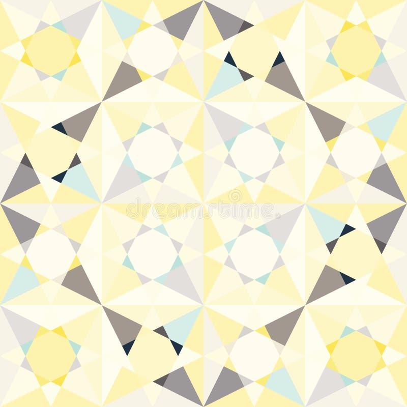 Het mozaïek van het caleidoscoopglas betegelt naadloos vectorpatroon vector illustratie