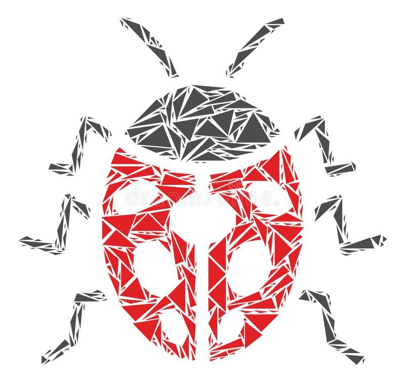 Het Mozaïek van het onzelieveheersbeestjeinsect van Driehoeken stock illustratie