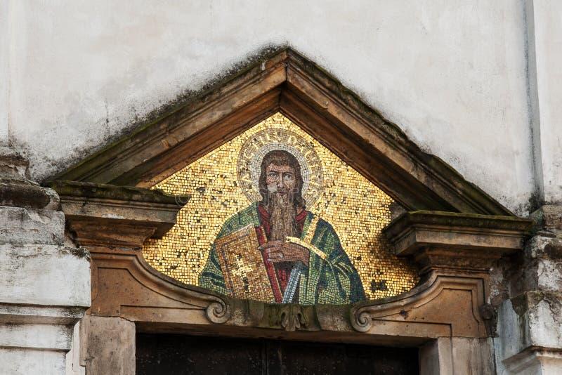 Het mozaïekbeeld van St Paul stock foto