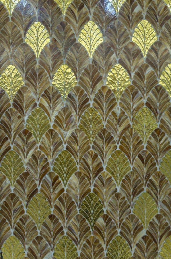 Het mozaïekpatroon van de veervorm stock fotografie