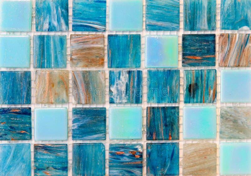 Het mozaïektegels van Aqua royalty-vrije stock foto