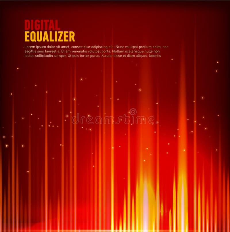 Het multi de technologie van de van de achtergrond kleuren Audiogolfvorm abstracte Vectorbeeld Digitale equalisertechnologie stock illustratie