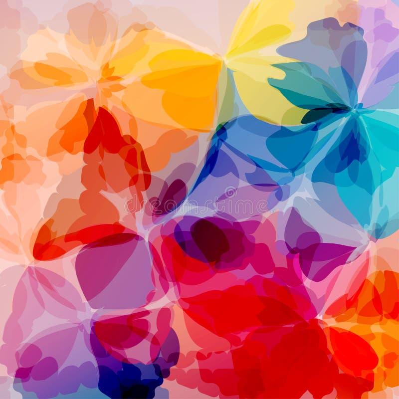 Het Multicolored achtergrondwaterverf schilderen stock illustratie