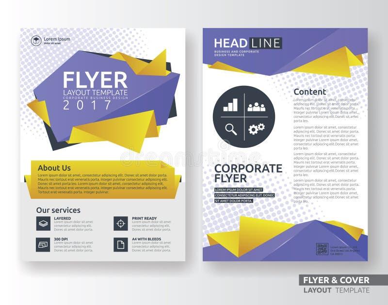 Het multifunctionele collectieve ontwerp van de bedrijfsvliegerlay-out vector illustratie