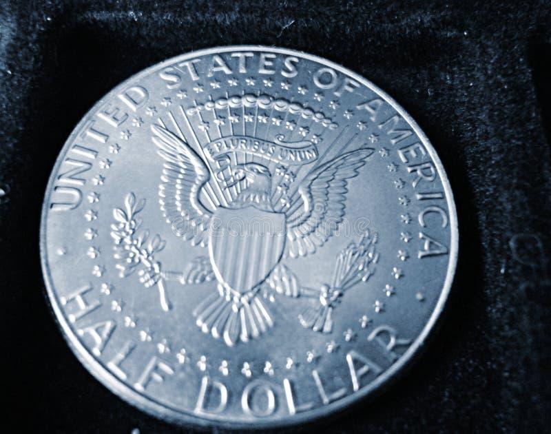 Het Muntstuk HALVE DOLLAR van de V.S. stock fotografie