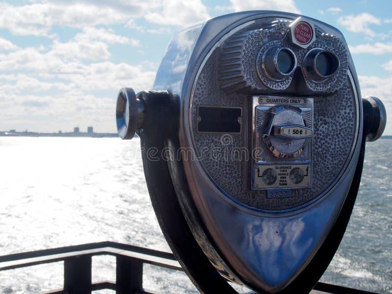 Het muntstuk stelde Binoculair het Bekijken Werkingsgebied in werking stock fotografie