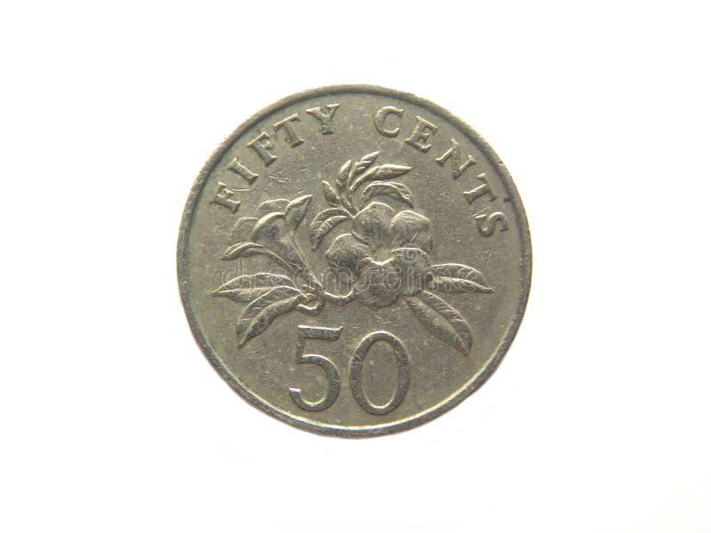 het muntstuk van 50 centensingapore royalty-vrije stock foto