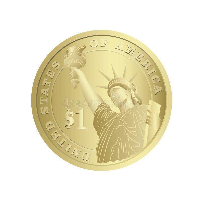 Het muntstuk van de dollar royalty-vrije illustratie