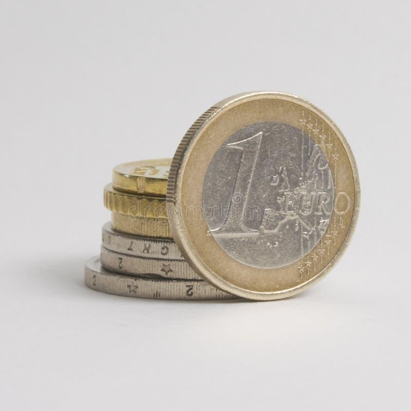 Het muntstuk van euro royalty-vrije stock afbeeldingen