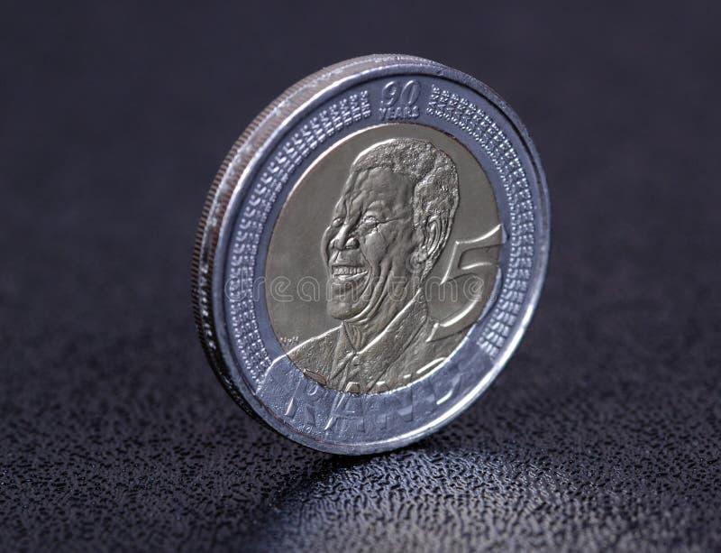 Het muntstuk van Nelson Mandela. royalty-vrije stock fotografie