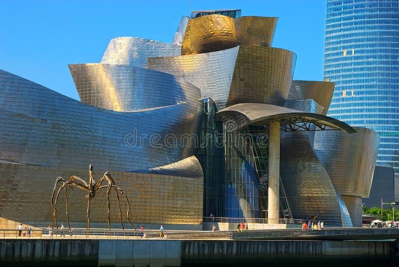 Het Museum Bilbao, Spanje van Guggenheim stock foto's
