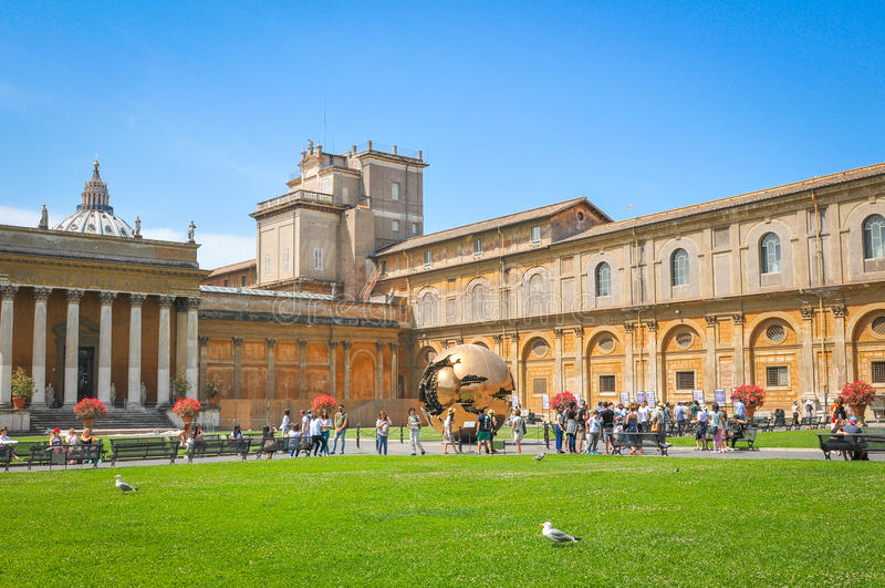 Het Museum Musei Vaticani van Vatikaan stock foto's