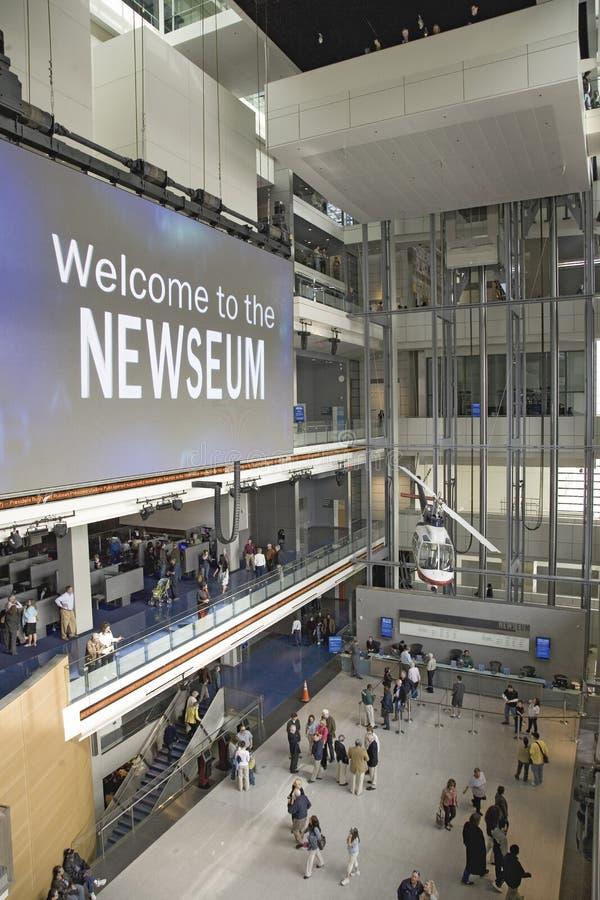 Het museum Newseum stock afbeeldingen
