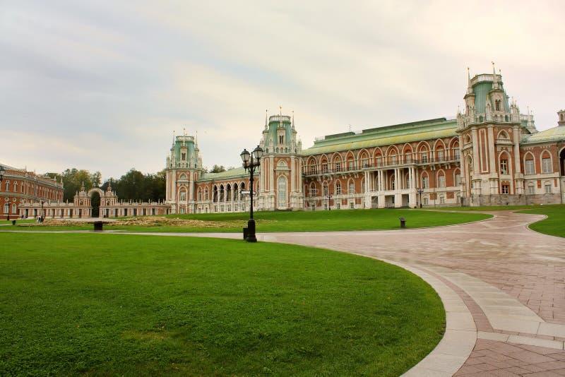 Het museum Tsaritsyno van het landgoed stock afbeeldingen