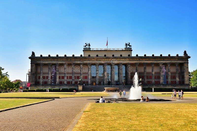 Het Museum van Altes (Oud Museum) in Berlijn, Duitsland stock foto's