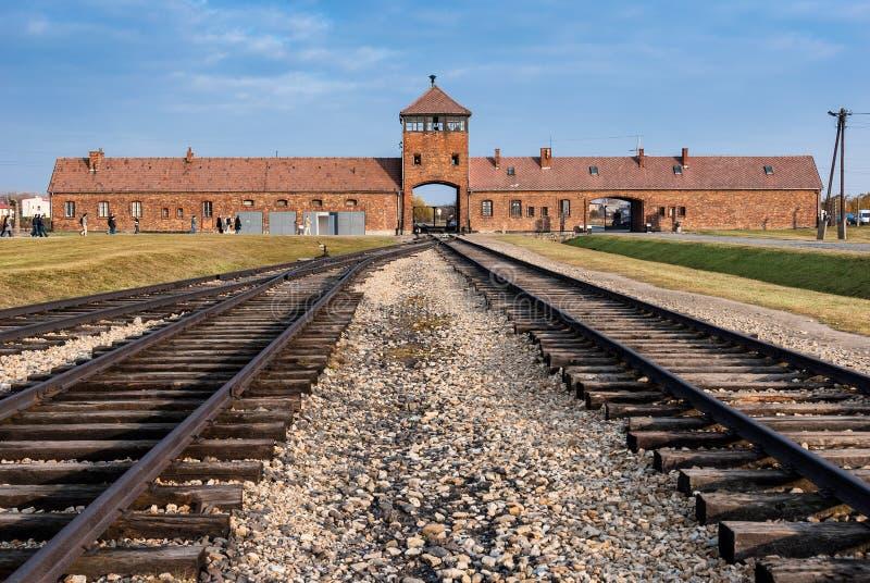Het Museum van Auschwitz stock foto