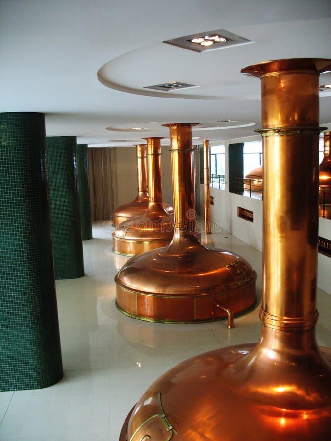 Het museum van de brouwerij in Plzen Tsjech stock foto