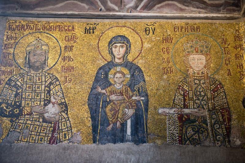 Het Museum van de Kerk van Sopia van Hagia, Reis Istanboel, Turkije stock foto