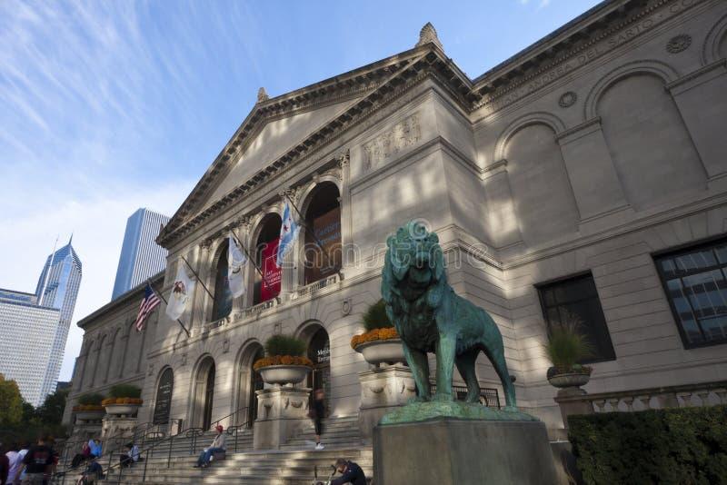 Het Museum van de kunst in Chicago van de binnenstad royalty-vrije stock fotografie