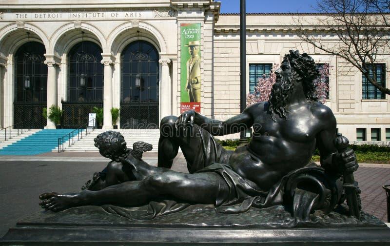 Het Museum van de Kunst van Detroit stock fotografie