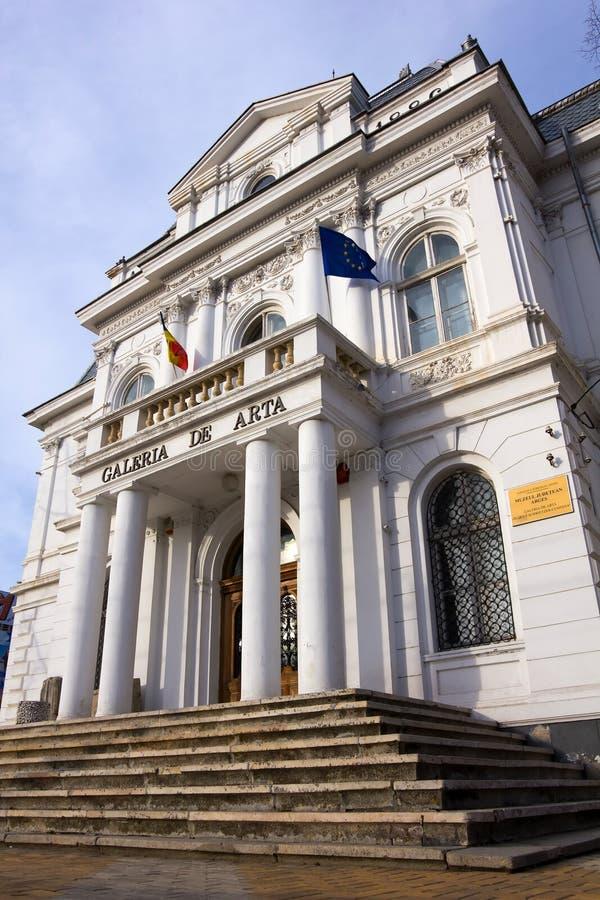 Het Museum van de kunstgalerie - Pitesti Arges Roemenië stock afbeeldingen