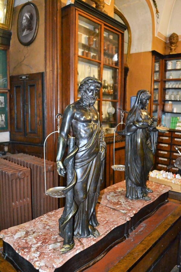 Het Museum van de Lvivapotheek stock foto