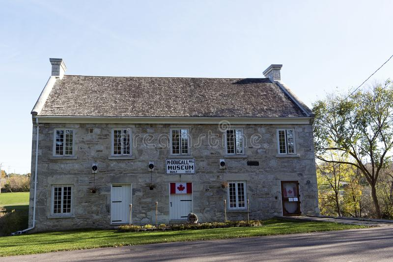 Het Museum van de McDougallmolen - Renfrew, Ontario stock afbeeldingen