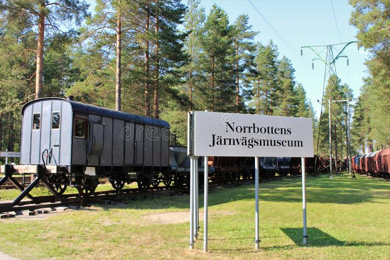 """Het Museum van de Norrbottenspoorweg in LuleÃÆ'à †â€™Ãƒâ€Ã¢â '¬â """"¢ÃƒÆ'â⠂¬Å ¡ Ã'à 'Â¥ stock fotografie"""