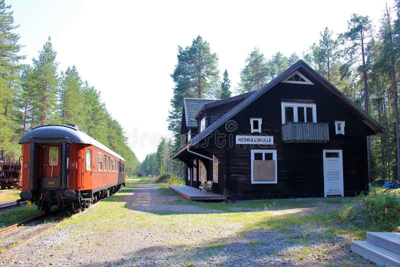 Het Museum van de Norrbottenspoorweg in Luleå stock afbeeldingen