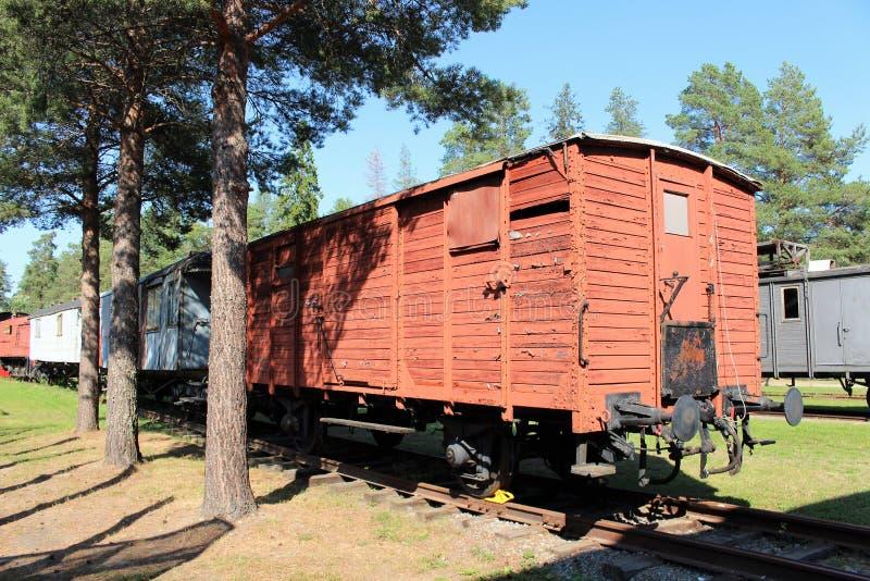 Het Museum van de Norrbottenspoorweg in Luleå royalty-vrije stock foto