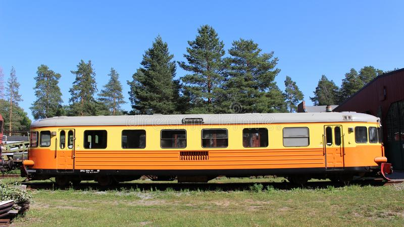 Het Museum van de Norrbottenspoorweg in Luleå stock fotografie