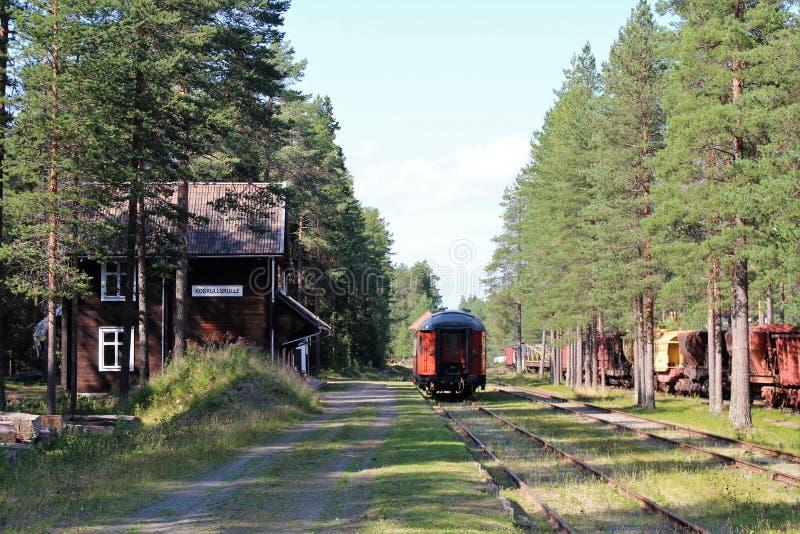"""Het Museum van de Norrbottenspoorweg in LuleÃ?'? ??'Æâ? ??? ??Ã?'â? ??Ã¢â'¬â""""¢Ã?'? ??'? ? Ã?'â? ??? ? Ã'? ?¥ stock afbeelding"""