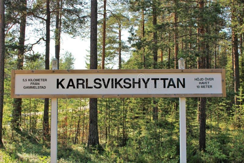Het Museum van de Norrbottenspoorweg in Luleå royalty-vrije stock fotografie