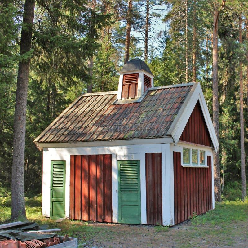 Het Museum van de Norrbottenspoorweg in Lule stock afbeeldingen
