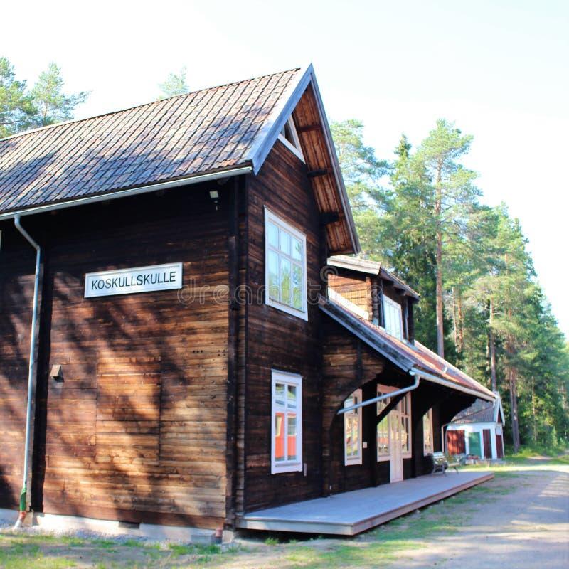 Het Museum van de Norrbottenspoorweg in Lule? stock fotografie