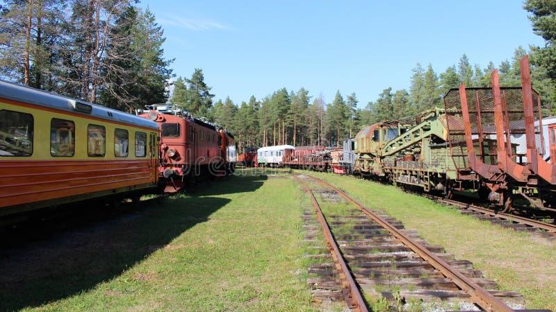 Het Museum van de Norrbottenspoorweg in Lule? royalty-vrije stock foto's