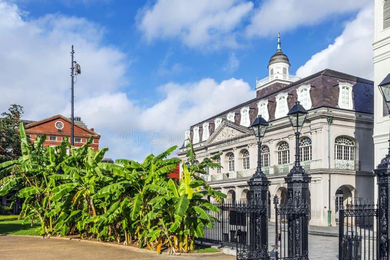 Het museum van de staat van Louisiane in Jackson Square, New Orleans royalty-vrije stock afbeeldingen