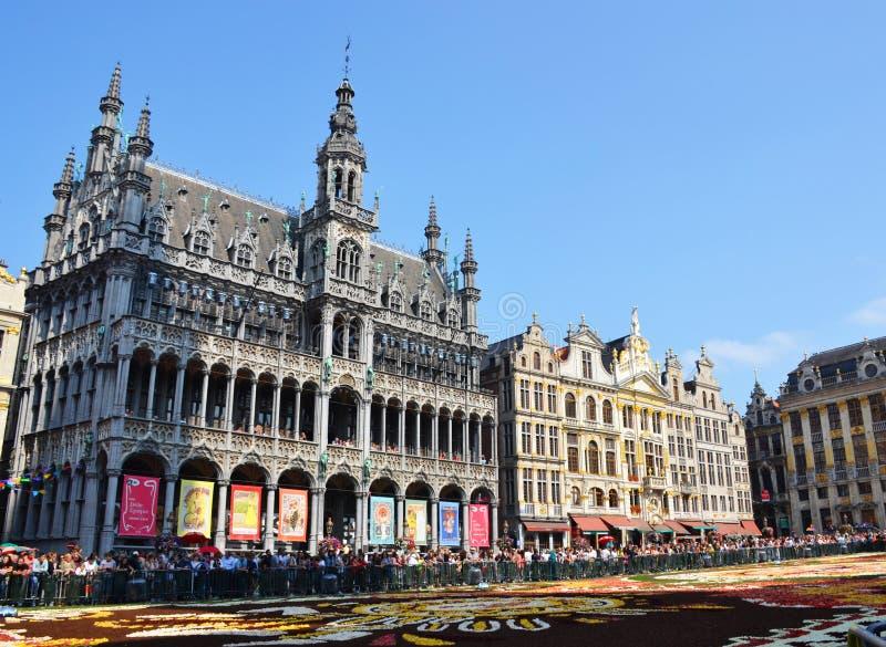 Het Museum van de Stad van Brussel in Grand Place, Brussel, België wordt gevestigd dat royalty-vrije stock foto's