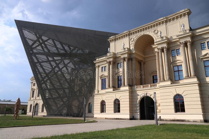 Het Museum van Dresden Bundeswehr stock afbeeldingen